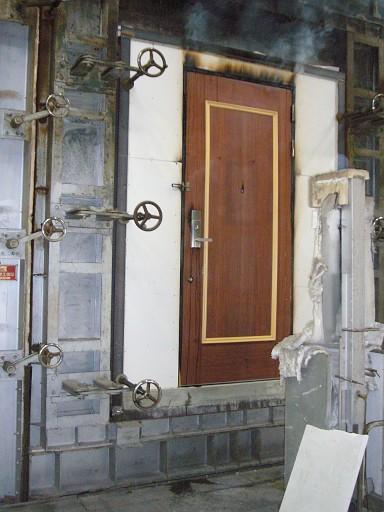 室内用木製防火ドア
