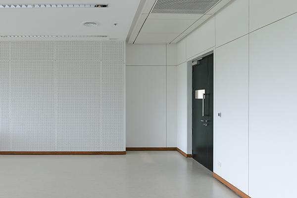 Empty room modern interior - floor with soundproof wall and door