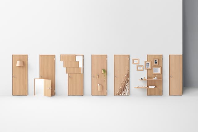 seven doors 創立70周年に合わせてデザインした7種類のドア。
