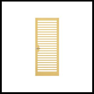 蒲鉾面桟硝子ドア
