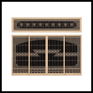 (書院)欄間:八角霧/障子:八角くずし段帯