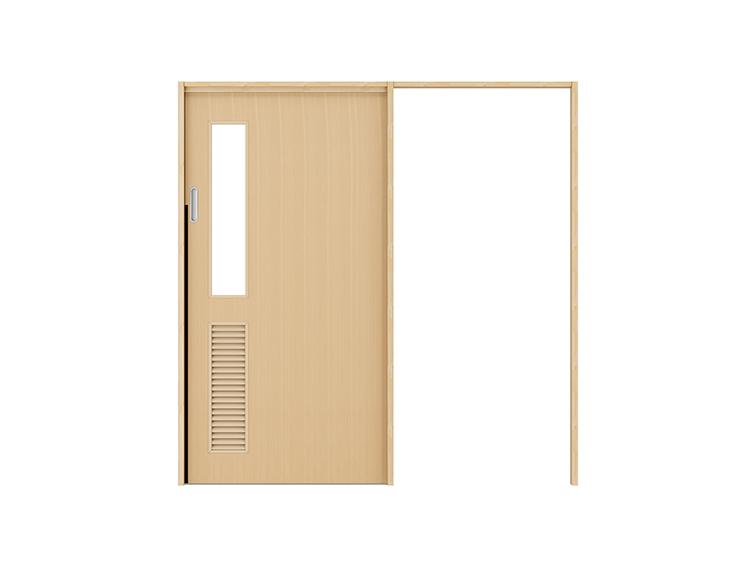 フラッシュタイプ/タモ柾目突板合板