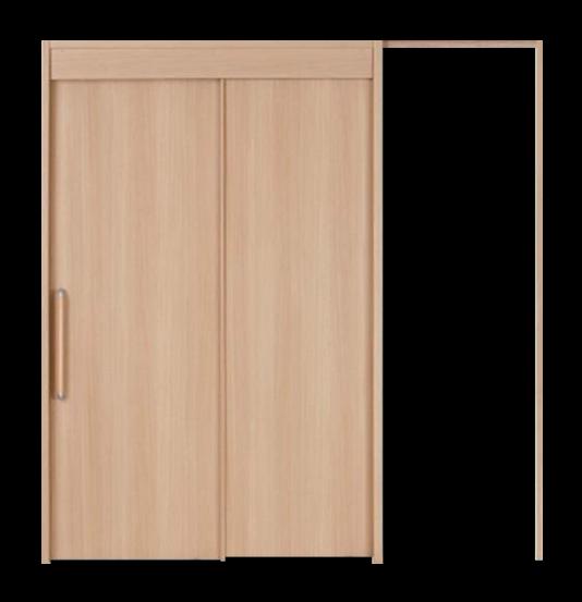 木製ドア 2連ポケット引戸の写真